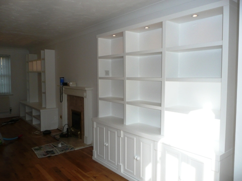 custom Cambridge shelves