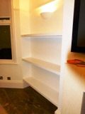 high gloss shelves