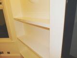 high gloss shelves fitted